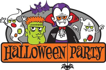 Clipart halloween celebration.  collection of high