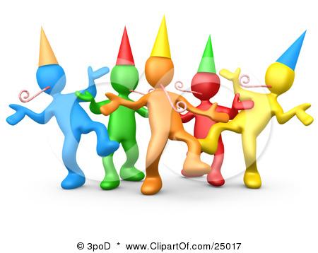 Celebration clipart office. Scene new year clip