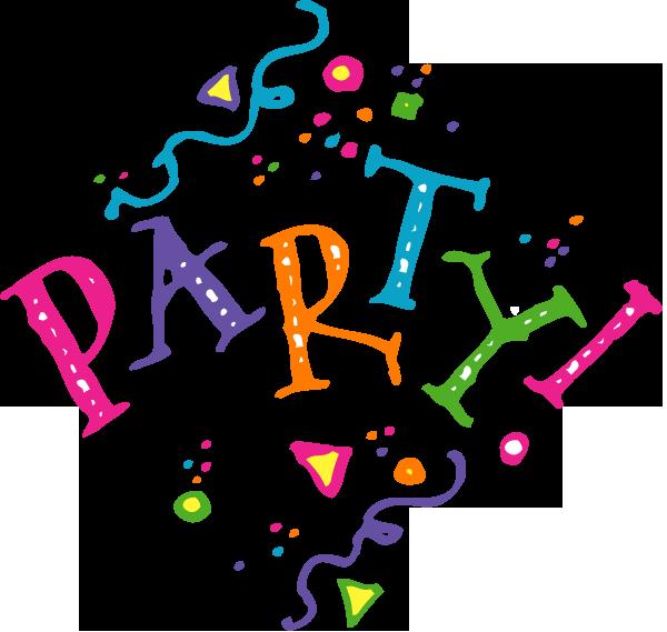 Celebration let party clip. Clipart school end