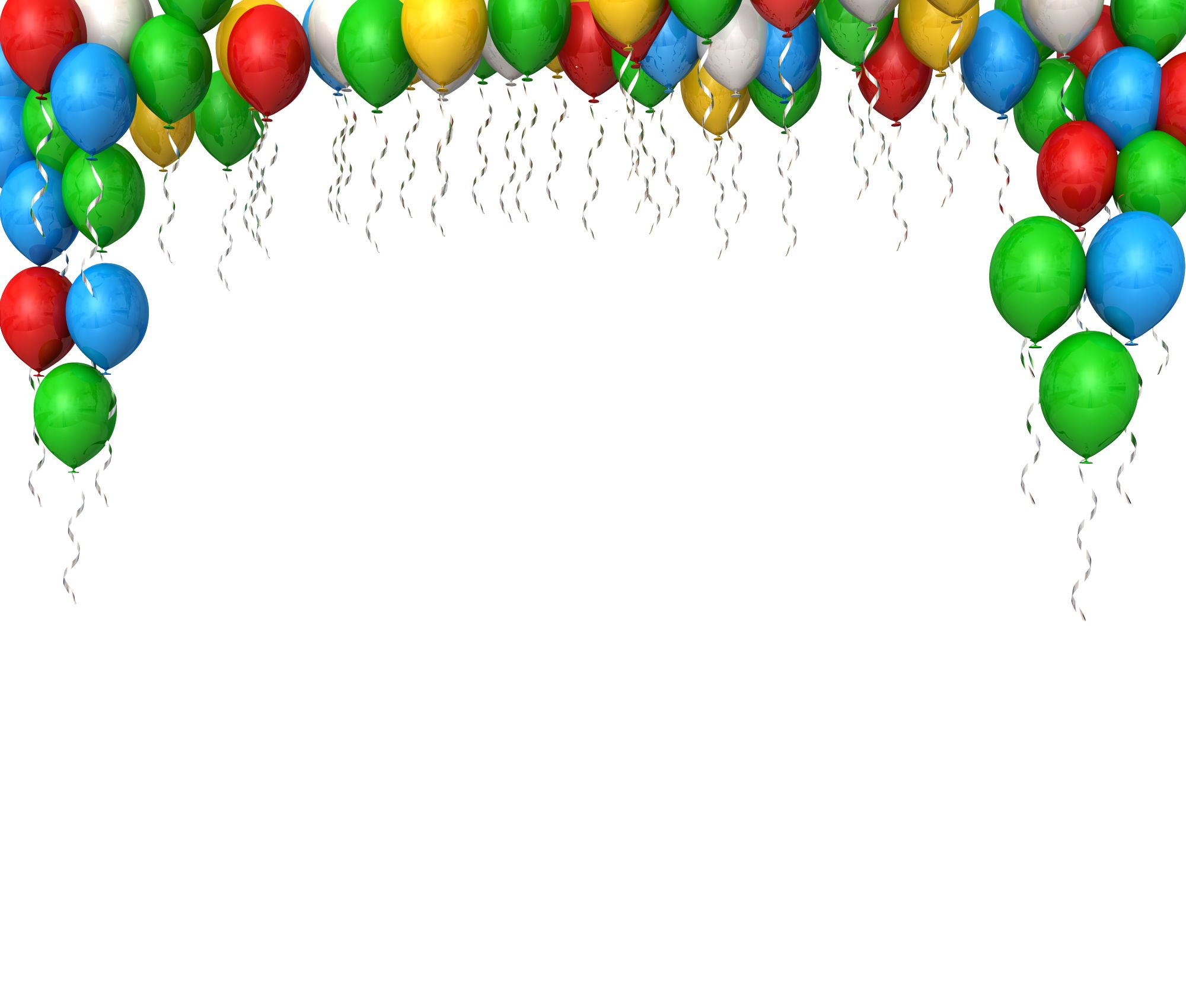 colorful balloons for. Celebration clipart powerpoint presentation