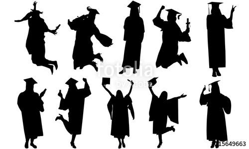Celebration clipart student. Woman graduate silhouette university
