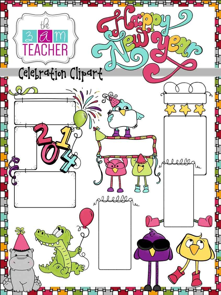 Celebration clipart teacher. Happy new year s