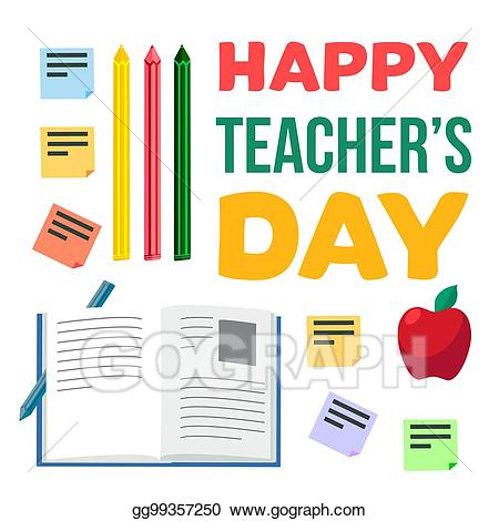 Vector art happy teachers. Celebration clipart teacher