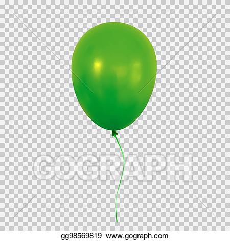 Celebration clipart transparent background. Eps vector green helium