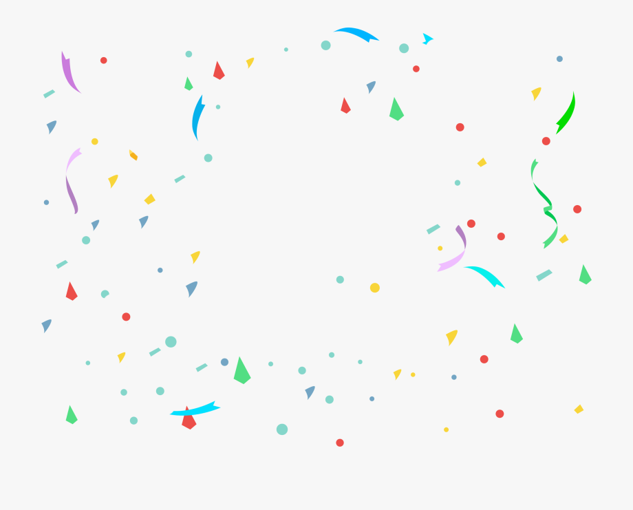 Party transparent background free. Confetti clipart small