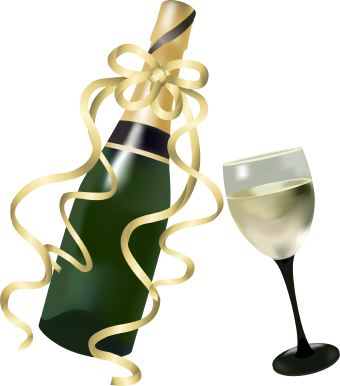 Free wine birthday cliparts. Champaign clipart clip art