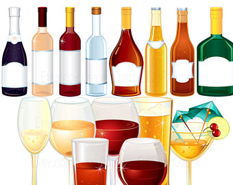 Etsy drink alcohol bottle. Celebration clipart wine