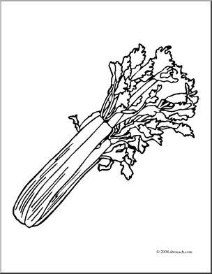 Celery clipart black and white. Clip art i abcteach