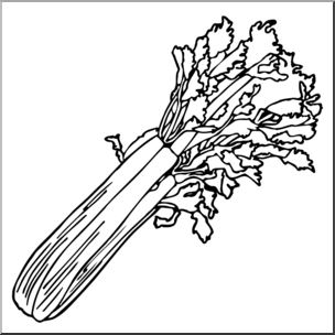 Clip art b w. Celery clipart black and white