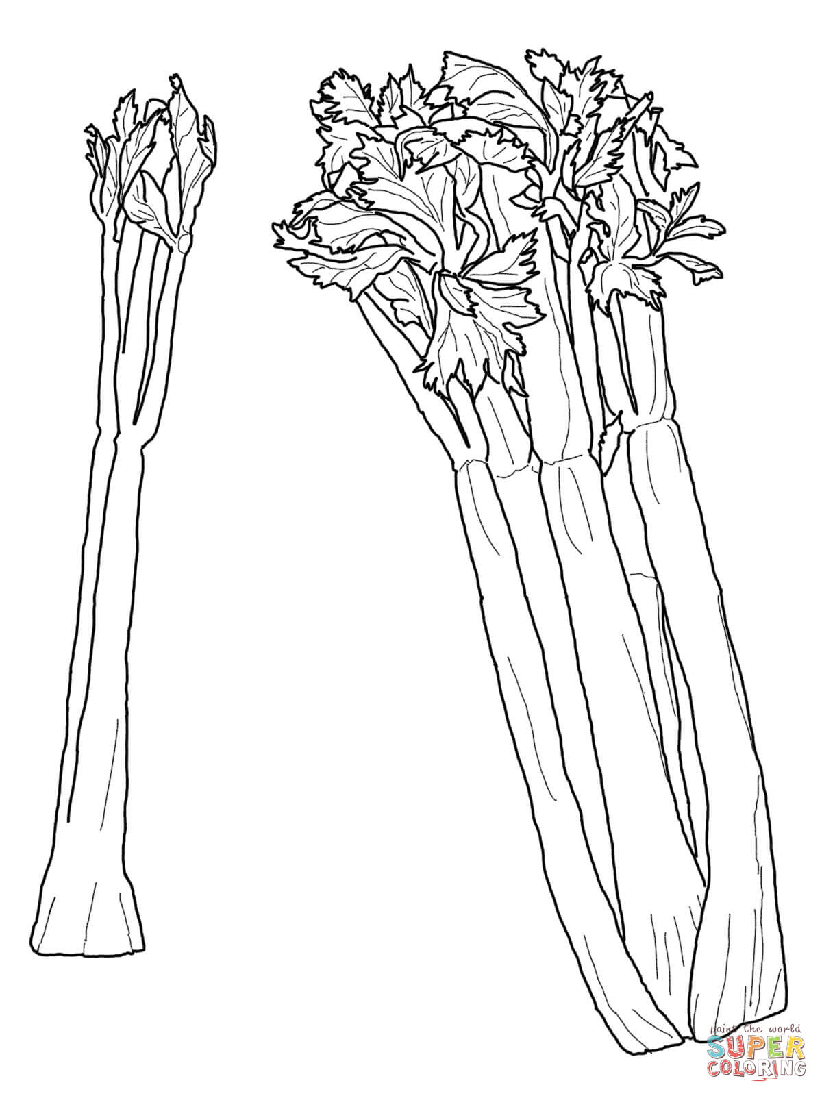 Celery clipart black and white. Coloring pages free