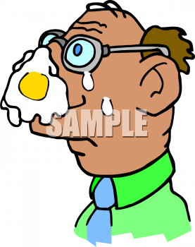Image of a man. Celery clipart face