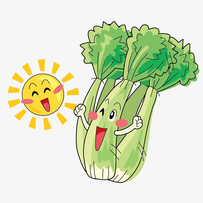 Celery clipart face. Hand painted painting expression