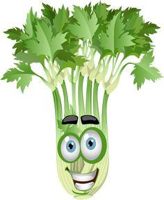 Gifs divertidos preciosas pinterest. Celery clipart face