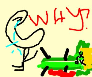 Celery clipart sad. People over kings death