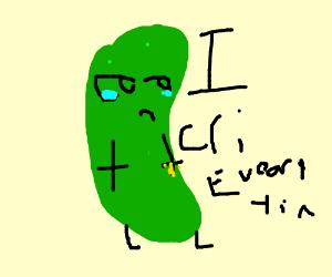 Sawdust and . Celery clipart sad