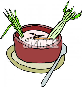 Celery clipart vegetable. Cream of soup image