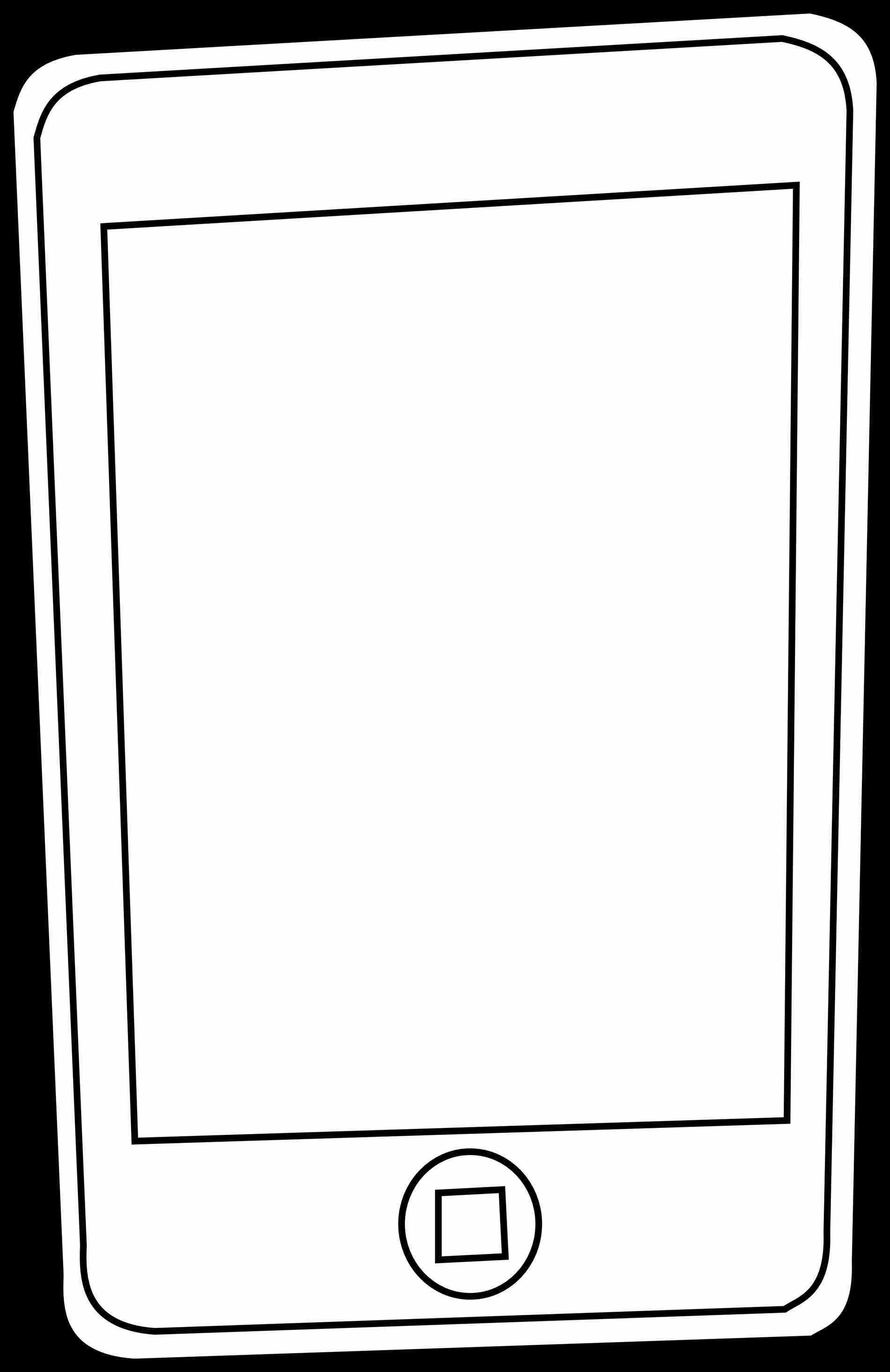 Cell clipart black and white. Phone panda free rhclipartpandacom