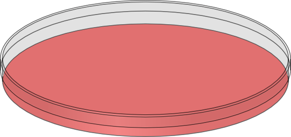 Cell clipart cell culture. Red petri dish clip