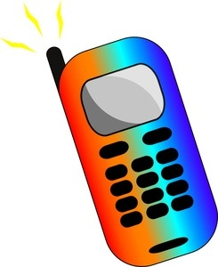 Phone letters image a. Cell clipart colored