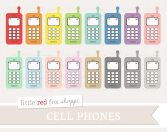 Cell clipart cute. Old phone etsy telephone
