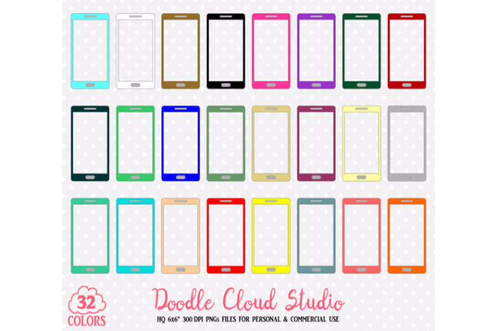 Cell clipart cute.  colorful cellphone mobi