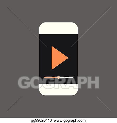 Vector art mp player. Cell clipart gadget