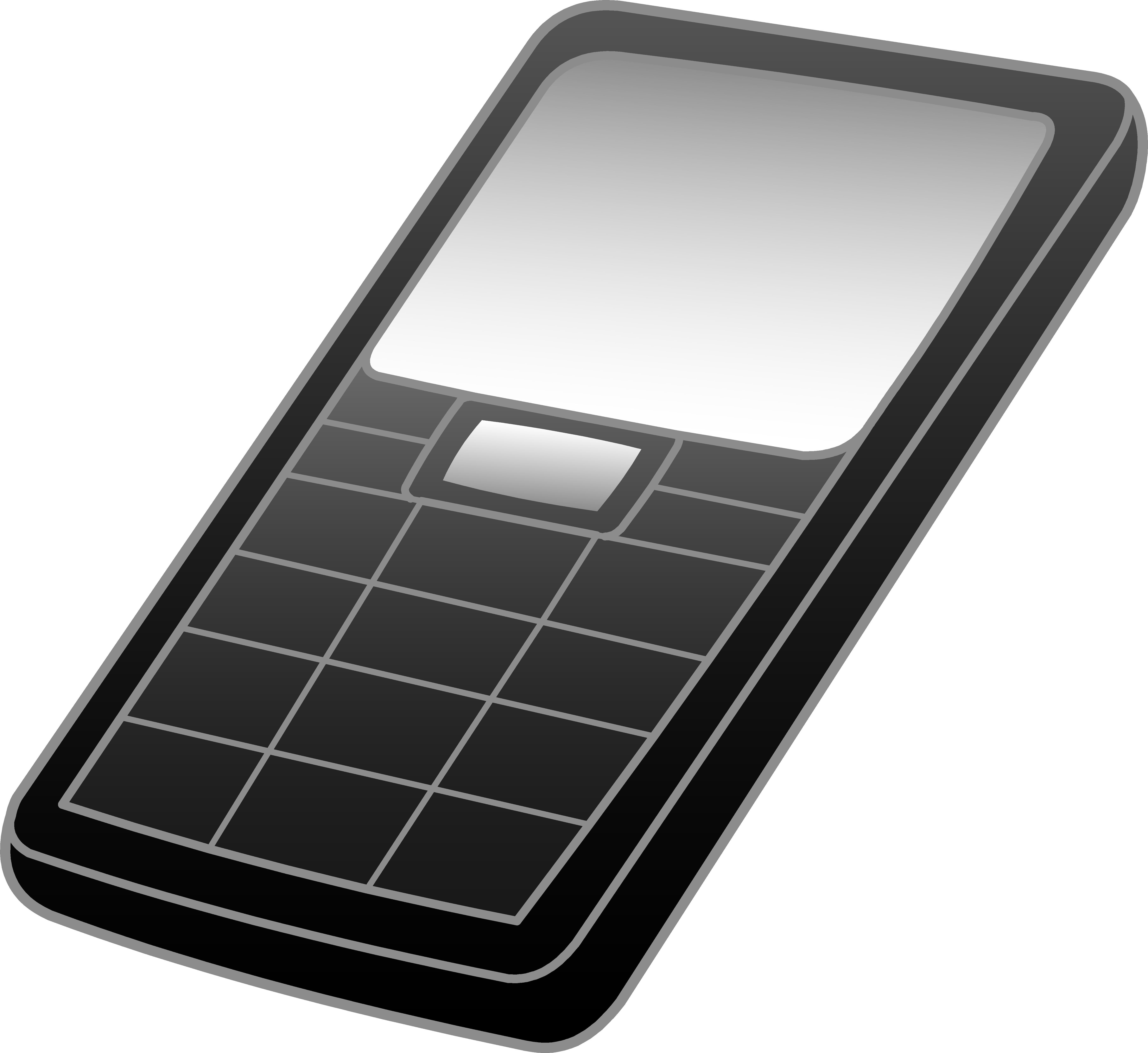 Black and grey cell. Phone clipart mobile calling