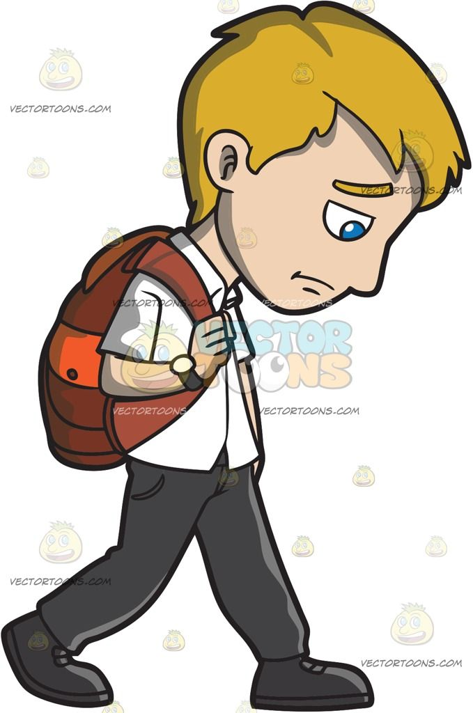 Cell clipart sad. A young man walking
