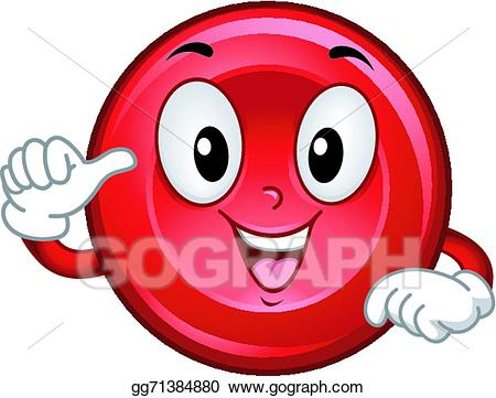 Cell clipart sick. Vector art red blood