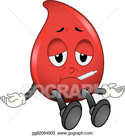 Eps vector mascot blood. Cell clipart sick