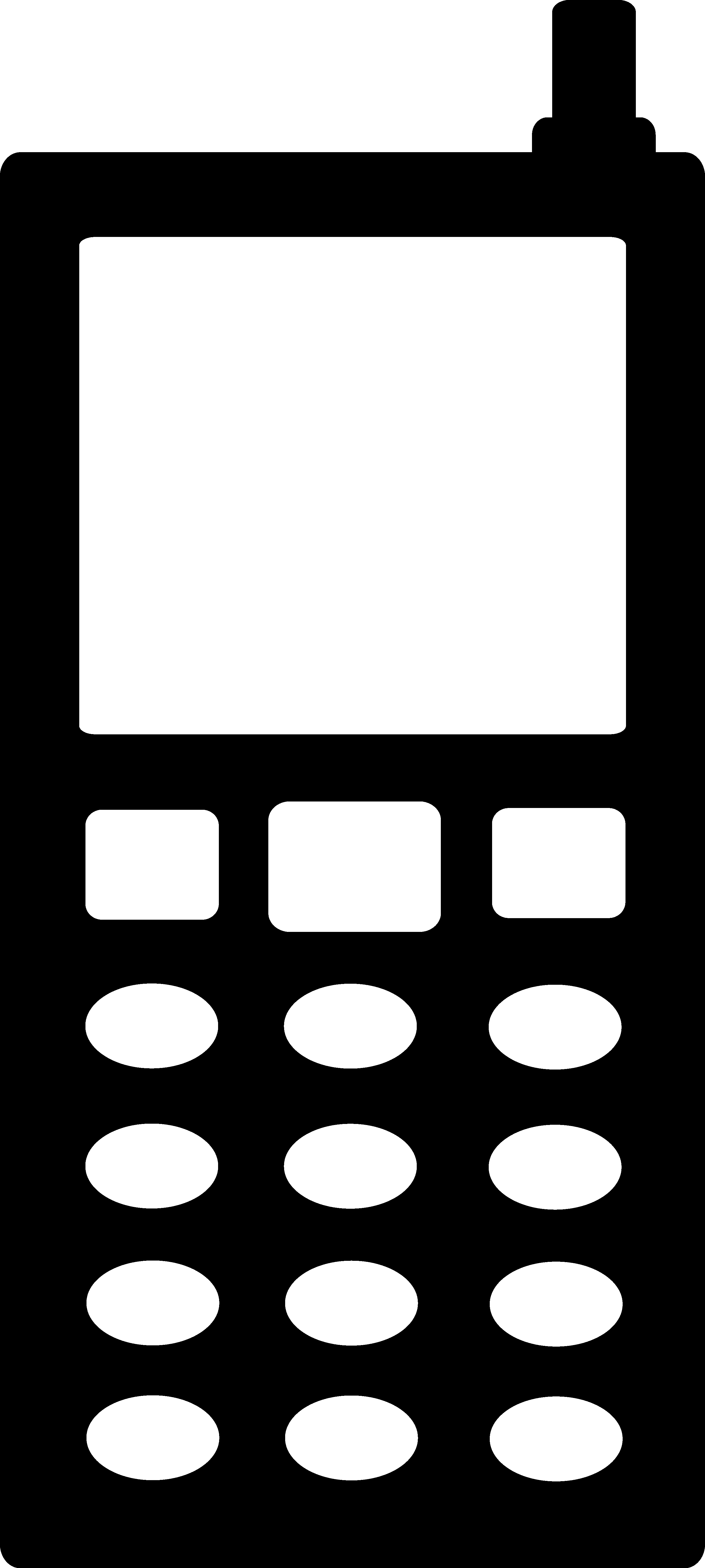 Cell clipart silhouette. Black phone free clip