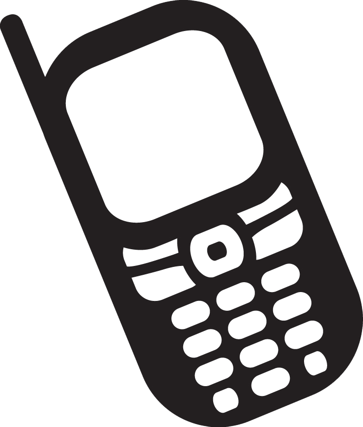 Phone icon . Cell clipart simple