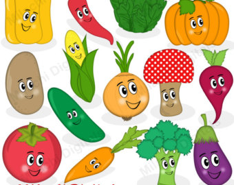 Etsy veggie characters vector. Cell clipart vegetable