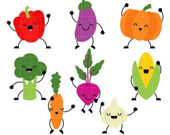 Cell clipart vegetable. Vegetables clip art etsy