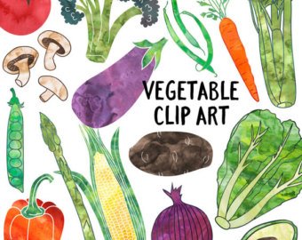 Cell clipart vegetable. Watercolor etsy instant download