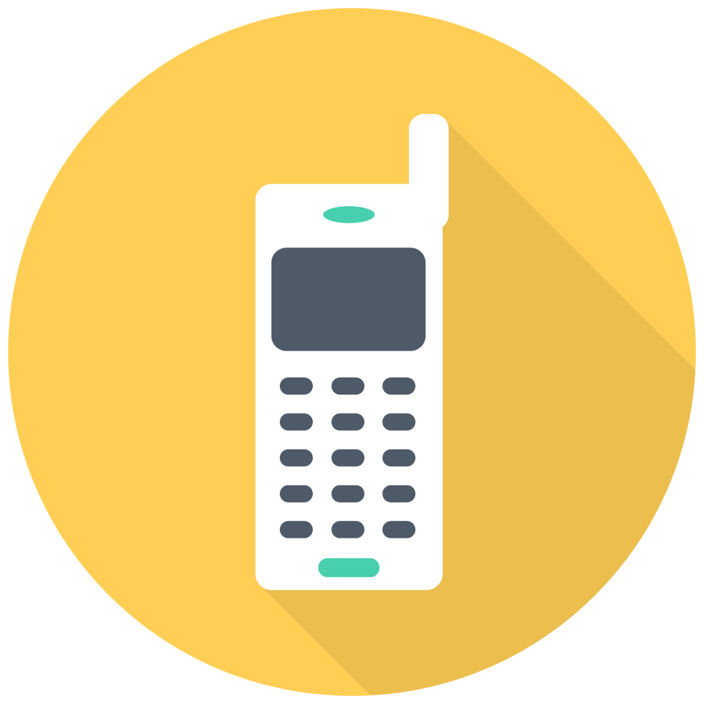 Cell phone vector png. Old mobile icon free
