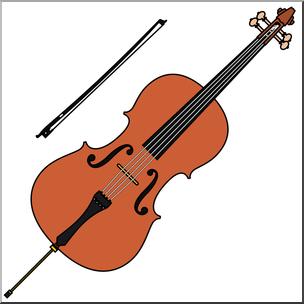 Cello clipart. Clip art color i