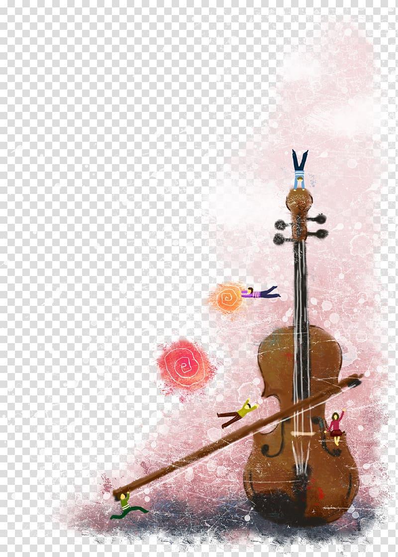 Cello clipart animated. Violin family illustration cartoon