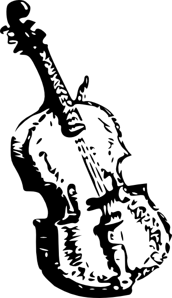 Clip art at clker. Cello clipart black and white