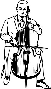 Cello clipart black and white.  best images on