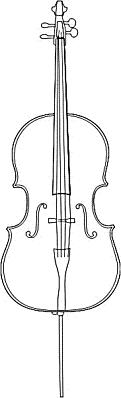 Cello clipart black and white. Free
