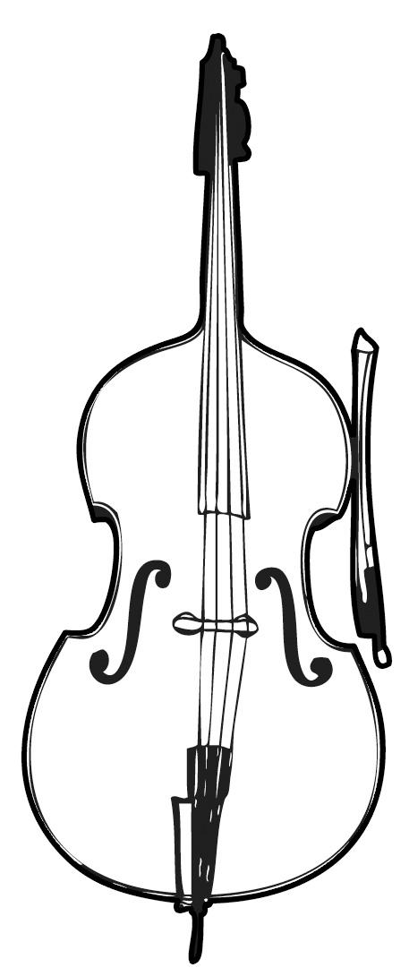 Free cliparts download clip. Cello clipart black and white