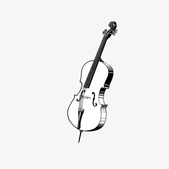 Portal . Cello clipart black and white