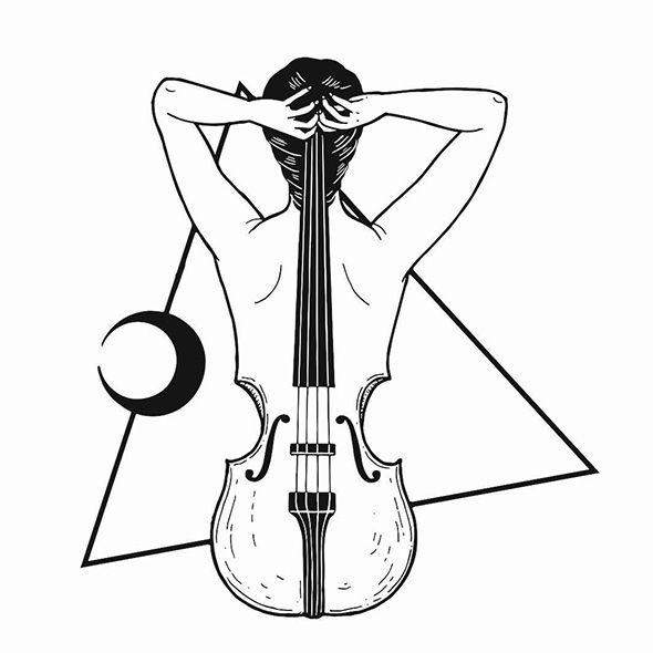 Gli enigmi in bianco. Cello clipart broken