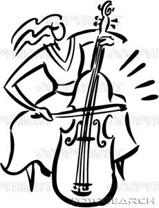 Cello clipart broken. Beautiful g clef musicart