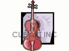 Isolated on white background. Cello clipart broken