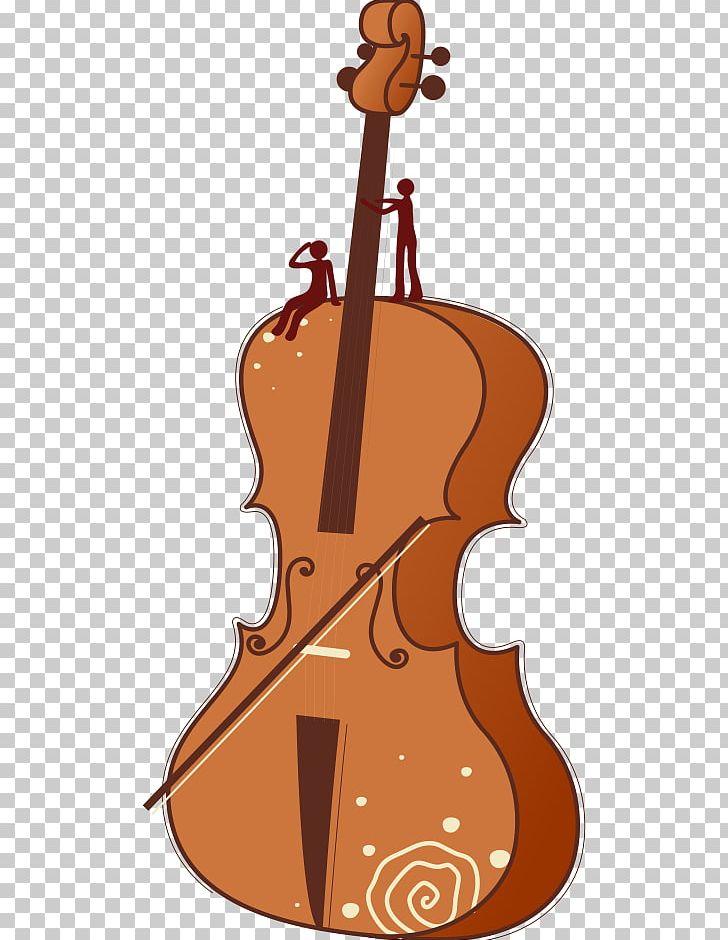 Violin png art bass. Cello clipart cartoon