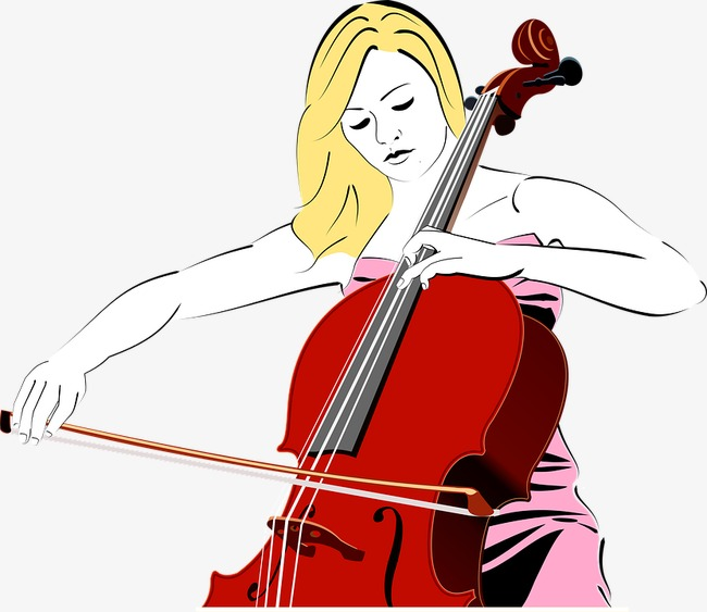 Cello clipart cellist. Girl hand painted png