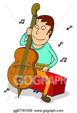 Cello clipart cello player. Clip art vector stock