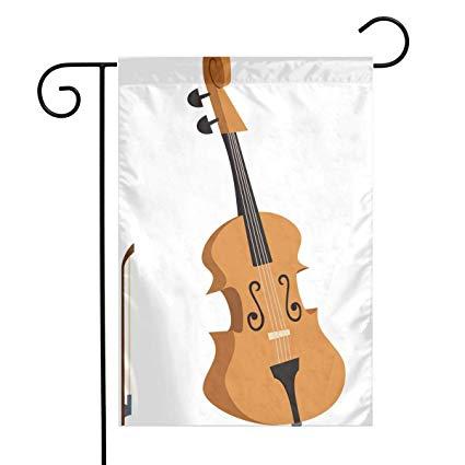 Amazon com garden flags. Cello clipart classical instrument